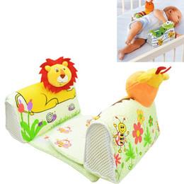 Almohada antivuelco segura para bebé online-Forma de los animales Almohada de Bebé Anti Rollover Baby Safe Anti Roll Roll Sleep Sleep Positioner