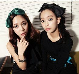 Wholesale Korean Hair Accessories Bow Fashion - Korean Fashion Women Girls Cute Bow Hairbands Fabric Bow Knot Hairband Hair Hoop Hair Accessories