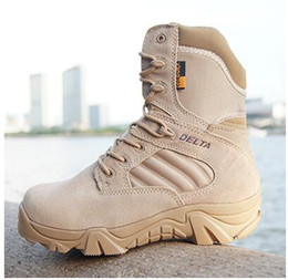 Wholesale Desert Special Combat Boots - Winter autumn High Quality Brand Men Military Boots Special Forces Tactical Desert Combat Boats Outdoor Shoes Snow Boots