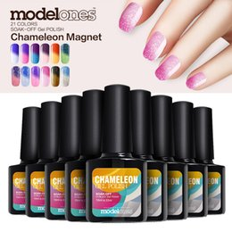 Wholesale Wholesale Color Changing Nail Polish - Modelones 10Pcs 10ml Fashion Color Change Nail Gel Long-lasting Soak Off UV LED Nail Gel Polish