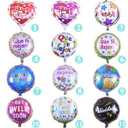 18 pouces Encourager les mots 'se remettre bientôt' ballons de revêtement Alumium Saint Valentin mariage Balloon enfants jouets fournitures ? partir de fabricateur