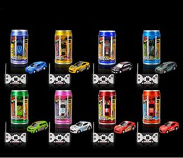 Wholesale Battery Cars For Kids - RC Desktop Coke Can Car Mini Radio Remote Control Car Micro Racing Rc Toy Car Cool Gift For Boy Kids Children