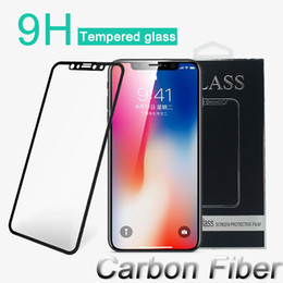 Wholesale Glass Screen Phones - Tempered Glass 3D HD Soft Protective Film for iPhone X 6 6s 7 8 Plus Cell Phone Full Cover Carbon Fiber Screen Protector