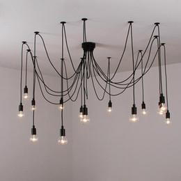 Morden Creative Spider Kronleuchter Licht Loft Büro Pendelleuchte Antike Edison Bar Wohnzimmer Deckenleuchte Leuchte von Fabrikanten