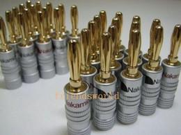 Alta calidad Nakamichi 24 K oro altavoz Banana Plugs Connector 500 unids / lote envío gratis desde fabricantes