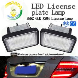 Wholesale Glk Led - 2pc X SMD LED License Lamp light for Benz GLK X204