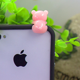 Wholesale Anti Dust Earphone Dog - Free Shipping Super Kawaii Cartoon 3d Boo Raccoon Dog Cell Phone Anti-Dust Gadgets Mobile Phone Earphone Jack Plugs Dock Plugs 3.5 mm