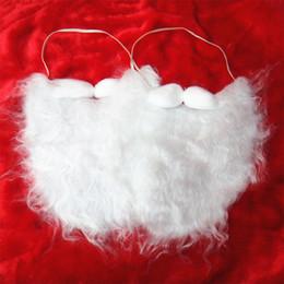 Wholesale Wholesale Santa Beards - christmas santa claus beards Costume Mustache False Beard santa claus white beard santa claus costume halloween beard free shipping in stock
