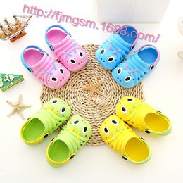 Wholesale Caterpillar Shoes Cartoon - Wholesale 2016 Lovely Cute Children Baby Slippers Summer Children boys girls slippers caterpillar animal cartoon EVA kids Shoes Slippers