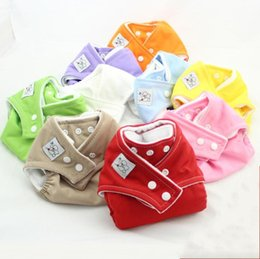 Wholesale one size diaper covers - Fast Delivery cloth nappy 10PCS New one-size fit reusable diapers washable cloth diaper all in one diaper cover diaper nappy