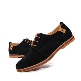 Botas de invierno online-Zapatos de gran tamaño para hombre Zapatos de cuero genuino casuales Zapatos de verano para hombres CoolWinter Botas calientes para hombres Zapatos Oxford 38-48