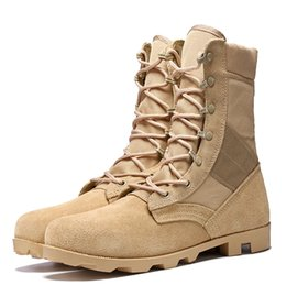 Wholesale Boot Tactical Military - Delta Men Military Tactical Boots Desert Combat Outdoor Army Hiking Travel Botas Shoes Leather Ankle Training boots