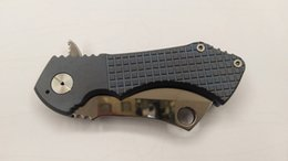 Wholesale custom titanium folding knife - Custom Knives S35VN Blade Fragged Field Cleaver Folding Knife Perfect Blue Titanium Handle Tools Tactical Survival EDC Free Shipping