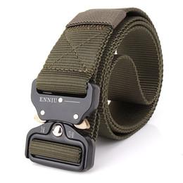 Wholesale Brown Canvas Belt - The New ENNIU 3.8CM Quick Release Buckle Belt Quick Dry Outdoor Safety Belt Training Pure Nylon Duty Tactical Belt