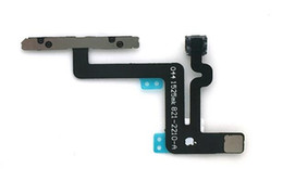 Wholesale Iphone Volume Switch - Original Switch Power Button with Volume Control and Mute Button Connector Flex Cable and Metal Bracket for iPhone 5S 5C 5G 6S 6 Plus
