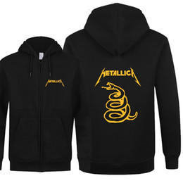 Новые модные толстовки мужские классические хэви-метал Metallica повседневная молния с длинными рукавами флисовая мужская толстовка с капюшоном Slim Fit мужские пальто от Поставщики толстовки металлики