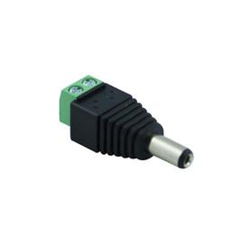 Jack de tomada de pc power dc on-line-1 Pcs 12 V 2.1x5.5mm DC Power Macho Plug Jack Adaptador Conector Plug para CCTV cor única Luz LED