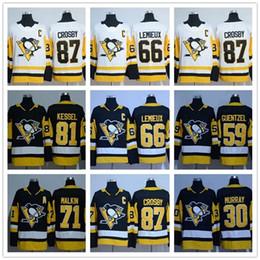 jerseys pingüinos Rebajas AD PITTSBURGH PENGUINES 87 Sidney Crosby 66 Mario Lemieux 81 Phil Kessel 71 Evgeni Malkin 30 Matt Murray jersey