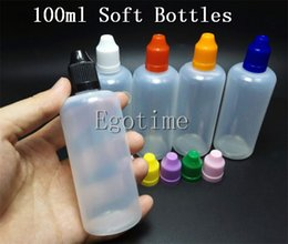 Wholesale Wholesale Squeezable Bottles - 100ml Empty Plastic Squeezable Dropper Bottles E Liquid Dropper LDPE Bottles with Child Proof Bottle Caps and Needle Tips Fedex freeshipping