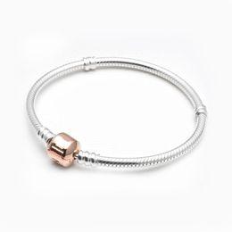 Wholesale Authentic Pandora European Bracelet - 2017 Hot Sale Authentic 100% 925 Silver With Name Logo Chain Bracelet rose gold Classic Style Original Fit pandora European Charms Jewelry