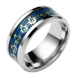 Wholesale Titanium Abalone Ring - Wholesale New Hot Movie Fashion Jewelry Stainless Steel Ring High Quality Rings Lord of The Ring Titanium Steel Plated Ring
