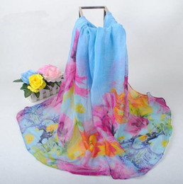 Wholesale Korean Winter Fashion Design - Autmn Winter New Design Women Warmer Scarf Korean Style Big Floral Pattern Wrap Special Price Mix Colors