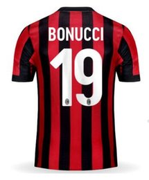 Wholesale Shirts Numbers - Customized 17-18 home Number Thai Quality Soccer Jerseys Shirts tops,10 Hakan Calhan 9 Andre Silva 19 Bonucci Jerseys,63 Cutrone Soccer Wear