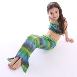 Wholesale Cheap Girls Swimwear - 2016 Mermaid Sequin Swimwear Suit Dresses Children Clothing Kids Party Clothes Sequins Cheap Lace Tutu 2016 Hot Sail Wear Flower Girl