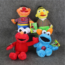 Wholesale Sesame Street Soft Plush - 23cm Sesame Street Elmo Cookie Ernie Bert Stuffed Plush Doll Soft Toys For Children Free shipping