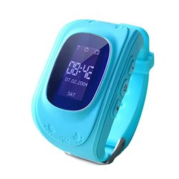 Wholesale Remote Control Cell - Wholesale- LAOKE Kids GPS Tracker Q50 Smart Watch For Children Wearable OLED LCD Electronic Anti-Lost with SIM Card Cell Phone Watches