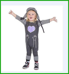 Wholesale Cheap Priced Christmas Lights - 2016 newest style baby girls long rompers half sleeve long pants children jumpsuits letters love pocket printed fashion factory cheap price