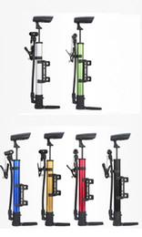 Wholesale Wheelbarrow Wholesalers - Bicycle Pumps Wheelbarrow Mini Portable Aluminum Alloy Pumps Basketball Home Pedal Inflatable for Toys Life Buoy