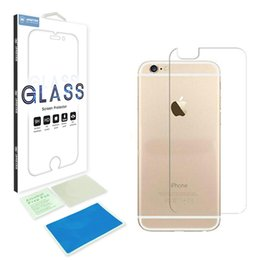 Wholesale Iphone 4s Retail - 0.33mm 9H 2.5D Tempered Glass back Screen Protector For Iphone X 8 SE 4s 5s 5 6s 6 7 plus 4.7 5.5 back rear anti-explosion with retail box