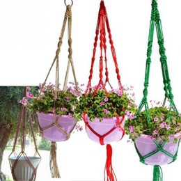 Wholesale Outdoor Hanging Plants - Plant Pot Hanger Jute For Indoor Outdoor Ceiling Holder Hanging Baskets