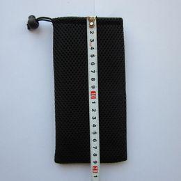 Черный мешок сетки полиэстер бритва хранения карманные косметика товары для дома подарок организатор сумка шнурок небольшой пакет от