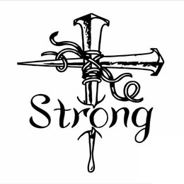 Wholesale Cross Bumpers - Cross Religious Strong Car Window Vinyl Bumper Sticker Decal