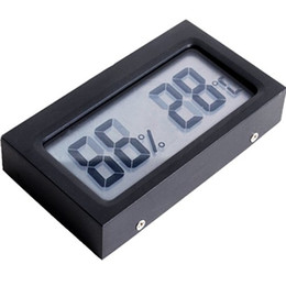 Wholesale Digital Temperature Humidity Thermometer - Wholesale-2016 Real Timber Mini Digital Lcd Display Indoor Temperature Humidity High Quality Black Thermometer Hygrometer Meter