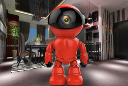 Wholesale Remote Robot Camera - 960P Red Robot IP Camera WIFI Baby Monitor 1.3MP Wireless CCTV IR Leds Remote Home Smart Monitoring TF Card Indoor Surveillance Free DHl