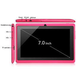 Wholesale Cheapest Capacitive Tablets - 7 inch 512MB 4GB A33 Quad Core Tablet Allwinner Android 4.4 KitKat Capacitive 1.5GHz WIFI Dual Camera Cheapest bluetooth Q88 1-7PB