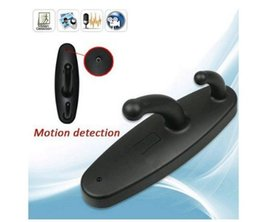 Wholesale mini motion activated hidden camera - HD Mini Hidden Camera Clothes Hook Video Recorder Motion Activated Security DVR with Audio Function