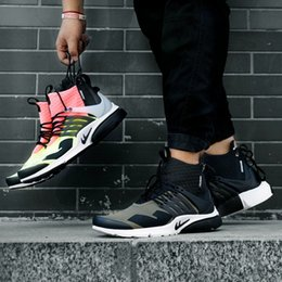 Wholesale Zipper Socks - 2016 Free Shipping Brand Shoes King Autumn Sneakers Famous ACRONYM Air Presto MID Zipper Mid Top Sock Shoes 40-45Wholeslae