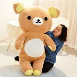 Wholesale Large Christmas Bears - 140cm Giant Soft Anime latest Rilakkuma Plush Toy Large Stuffed Cartoon Relax Bear Doll Pillow Children Present 55inches
