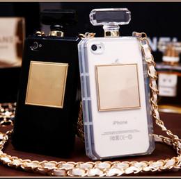 Caso s5 transparente on-line-Para iphone 7 case casos de garrafa de perfume de luxo mulheres limpar transparente tpu case capa para iphone 5s se 6 6 s plus samsung note 4 5 s5 s6 borda