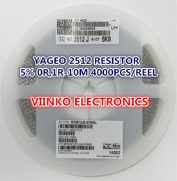Wholesale 1w Resistors - Wholesale- Free shipping full reel 5% 2512 56R 56 OHMS 1W SMD Chip Resistor 4000pcs reel YAGEO New Original Chip Fixed Resistor