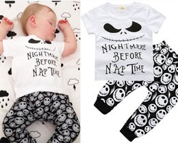 Wholesale Wholesale Long Sleeve Tshirts - 2018 Baby Clothing Sets Boys Girls Toddler Short Sleeve tshirts Pants 2Pcs Set Cartoon Letters Infant Tees Tops Boutique Clothes Suits F06