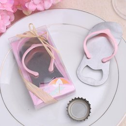 Wholesale Slippers For Wedding Favors - Free Shipping Hot Sell 50piece lot Slipper Shoes shape beer bottle opener for wedding invitations and favors party with holiday supplies