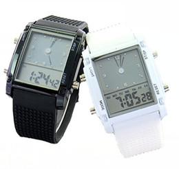 Wholesale Led Binary Watch Fashion - Wholesale 100pcs lot Watches Fashion Cool Flash LED Digital Watch Sports Silicone Led Electronic Binary Watch LW010