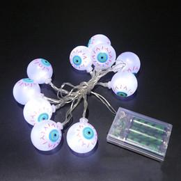 Wholesale Wholesale Led Lights Strands - Halloween Decoration Fancy Eye Balls String Lattern Lights LED Eyeball Colorful Strand Lamp Colorful 10 LED Light