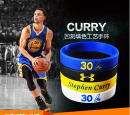 2019 bracciali bieber 2016 nuovissimo Stephen curry braccialetto in silicone braccialetto curry 30 firma braccialetto sportivo amato amore curry fan fedeli in 4 colori