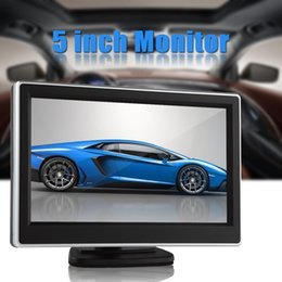 Wholesale Car Video Camera Parking System - 5 Inch TFT LCD Digital Panel Color Car Rear View Monitor with 2 Video Input Parking Assistance System Support Backup Camera CMO_312